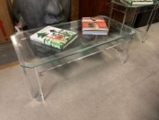 Andrew Martin Augustine Coffee Table A Contemporary And Stylish Clear Acrylic Table With Glass Top A