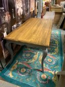 Provence Dining Table The Provence Dining Table Features Beautiful Hand Painted Curved Legs With A
