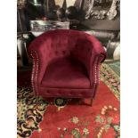 Weymouth Velvet Chesterfield Chair, with a combination of traditional style and modern