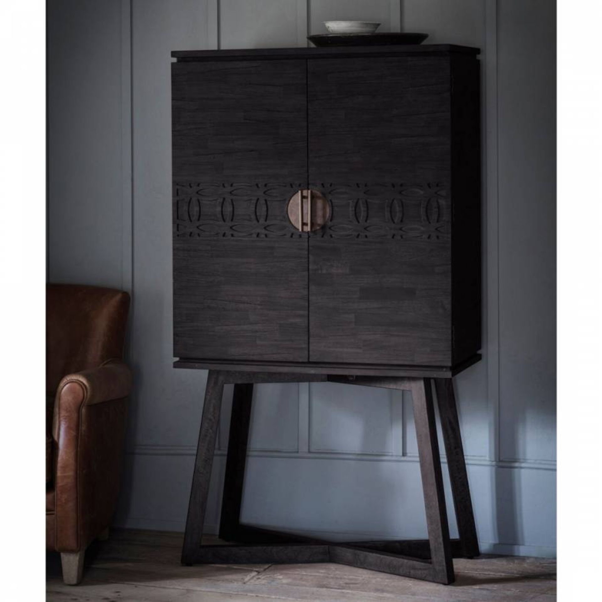 Boho Boutique Cocktail Cabinet is made using Mango solids with mixed timber veneers of Teak-