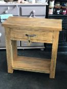 Deanery Collection One Drawer Lamp Table Rustic, authentic and warm…just a few words that spring