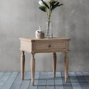 Mustique 1 Drawer Side Table With a nod towards the french colonial style this 1 drawer side table