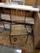 A pair of Botanic Chairs Large A Contemporary Clean Design Hand Crafted Well Build Metal Base And