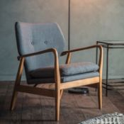 Jensen Armchair Grey Our stunning Jensen Arm Chair in Grey is the perfect addition to any room as an
