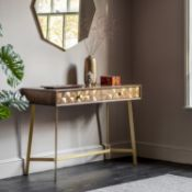 Tate Console Table This piece is a Desk /console - its designed to cover both aspects with two