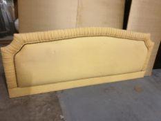 Luxury headboard padded yellow with gold silk back board headboard 182 x 80cm ( LOC HB10)
