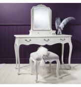 Laura Ashley Chic Dressing Table Vanilla White Made From Mindy Ash And Features Three Practical