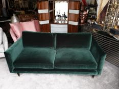 Henry 2 Seater Velvet Sofa - Emerald Green Henry By Christiane Lemieux Is A Contemporary Sofa With