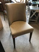 ** Clearance** Timothy Oulton Fulton Dining Chair Beige Linen and Worn Ash 49 x 57 x 87cm (A2/)