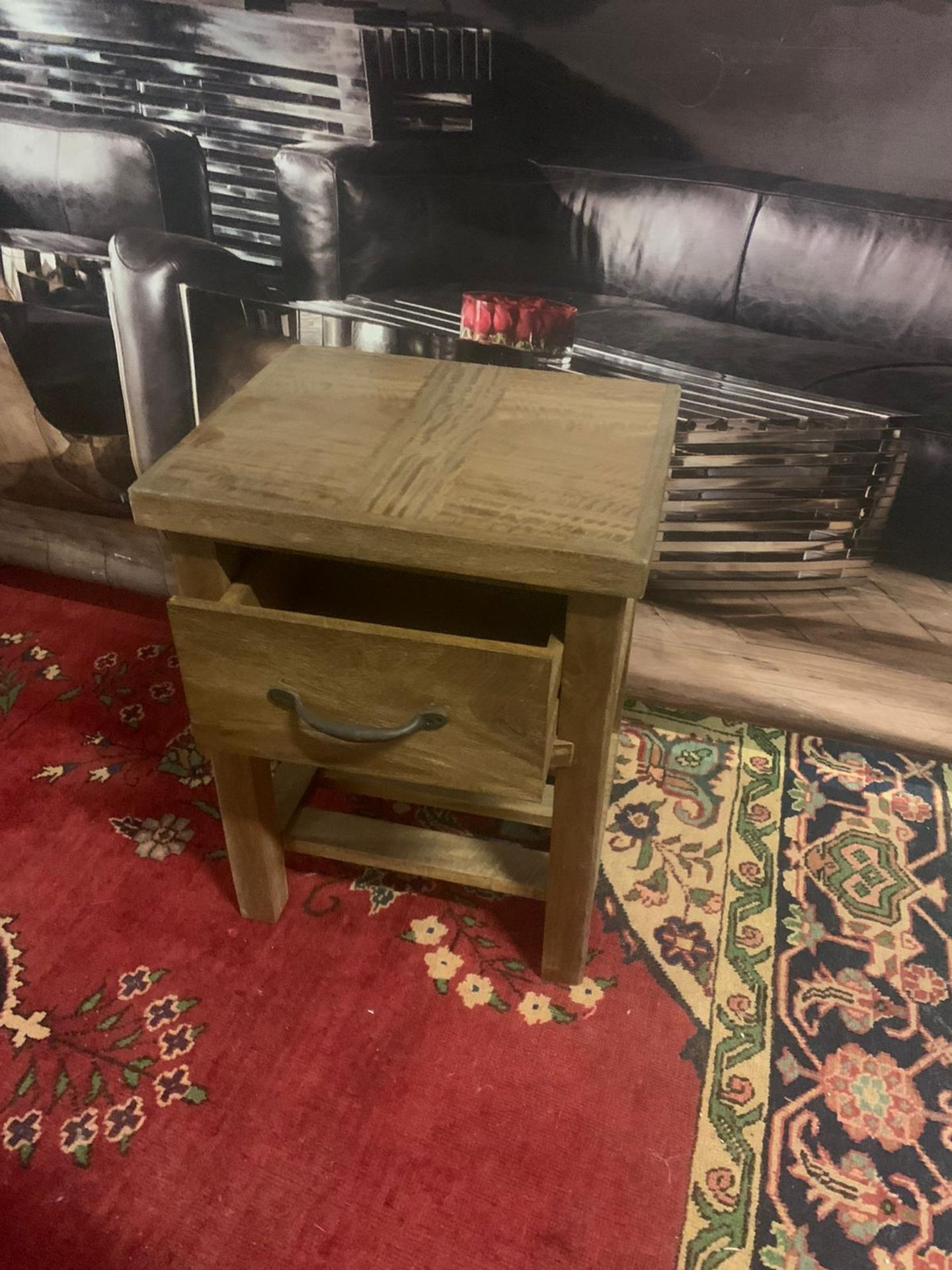 A Pair of Soho Solid Wood Side Table / Bedside 1 Drawer whether it leans more towards traditional - Image 2 of 5