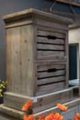 Brooklyn Distressed Pine Two Drawer Che Designed with a modern life in mind, the Brooklyn