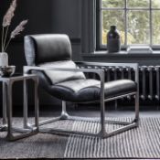 Boda Lounger Black Leather The beautiful Boda Lounger chair is the latest addition to our range of