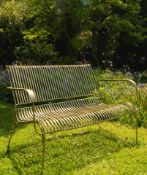 Iron Garden Bench A Compact Yet Stylish Iron Bench With An Bold Brass Finish Expertly Crafted The