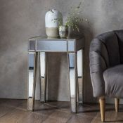 Pattington Mirror Side Table This mirrored Pattington Console Table will bring extra light into