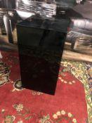 Black gloss lighting plinth