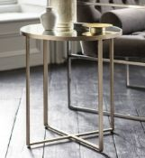 Torrance Side Table Silver The additions to the success of the Torrance coffee and side table are