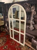 Cathedral Provence Arched Mirror Antique White 100 x 180cm