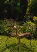 Copper Chair A Compact Yet Stylish Chair With A Bold Copper Finish Expertly Crafted The Curves Of