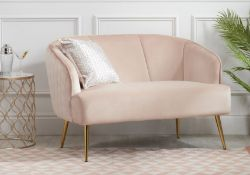 Belal Sofa Stunning blush pink finish to complement a wide range of living rooms and