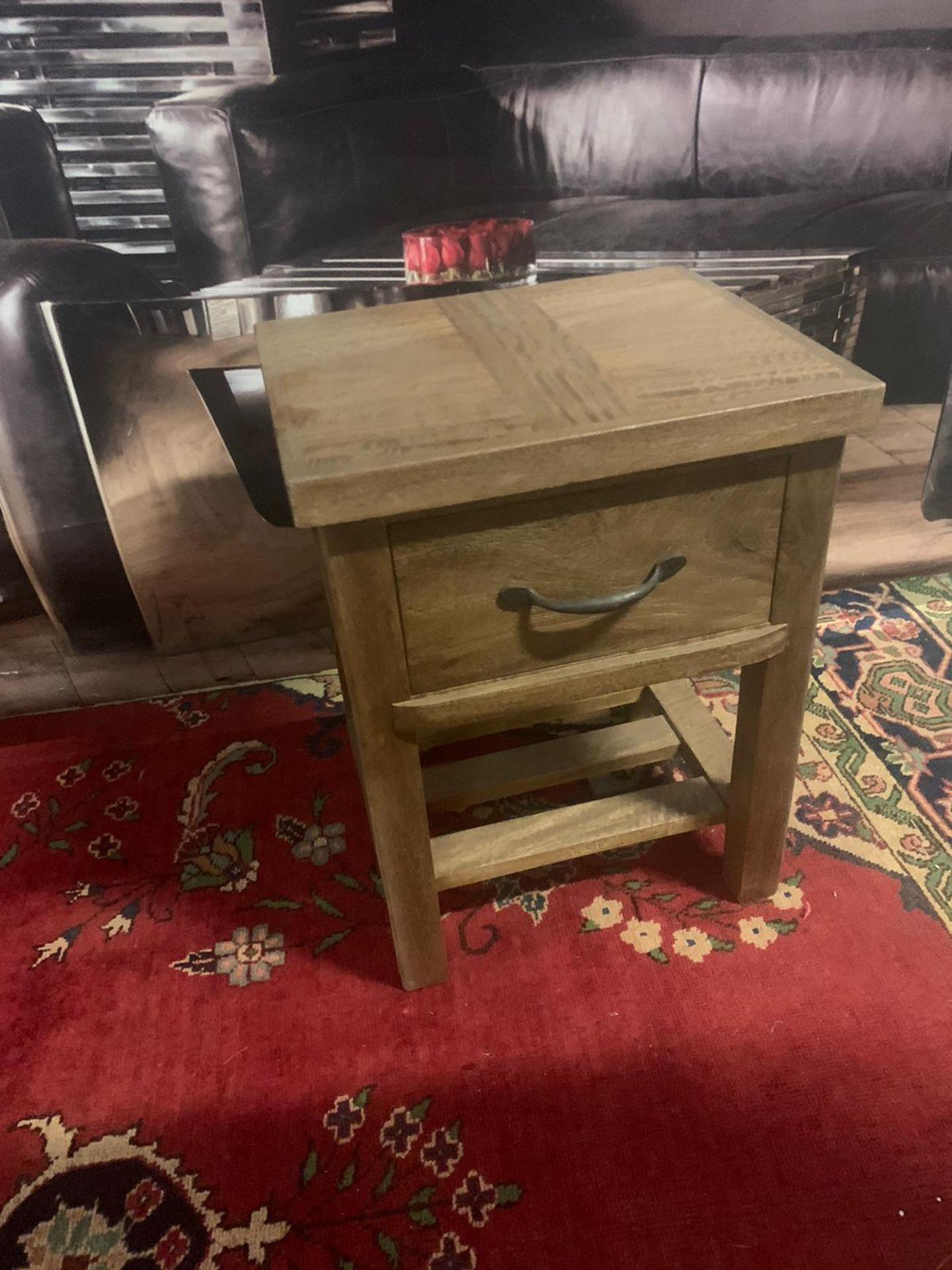 A Pair of Soho Solid Wood Side Table / Bedside 1 Drawer whether it leans more towards traditional - Image 3 of 5