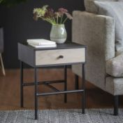 Carbury 1drawer Bedside Table 400 x 400 x 500mm