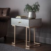 Amberley 1 Drawer Mirrored Bedside Table
