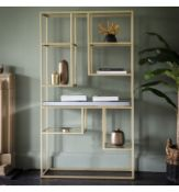 Pippard Open Display Unit Champagne Introduce Sleek Style To Your Room With This Stunning Pippard