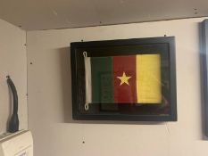 Flag Shadow Box Cameroon A Visually Compelling Addition To Any Room With A Bold Graphic Print, Our