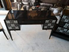Shellshock Writing Desk By Boyd A Beautiful Black Lacquered Writing Desk With A Shell Geometric