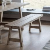 Kielder Bench oak bench W1600 x D350 x H450mm Honest and solid the Kielder range is crafted from