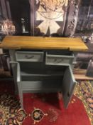 Storm Oak and Grey Painted 2 Door 2 Drawer Small Sideboard Organize your everyday bits and pieces