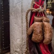 Timothy Oulton Sporting Boxing Glove A Pair Hand stitched and handcrafted in burnished vintage