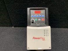 ALLEN BRADLEY POWERFLEX 40 DRIVE 22B-D1P4N104, 0.5 HP 0.4 KW 1.4 AMP 3 PHASE 460 VAC