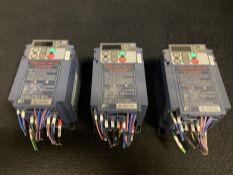 LOT OF 2 - FUJI ELECTRIC FRN0.1E1S-2J DRIVE, .1KW 1.1AMP 200-240VAC 3-PHASE