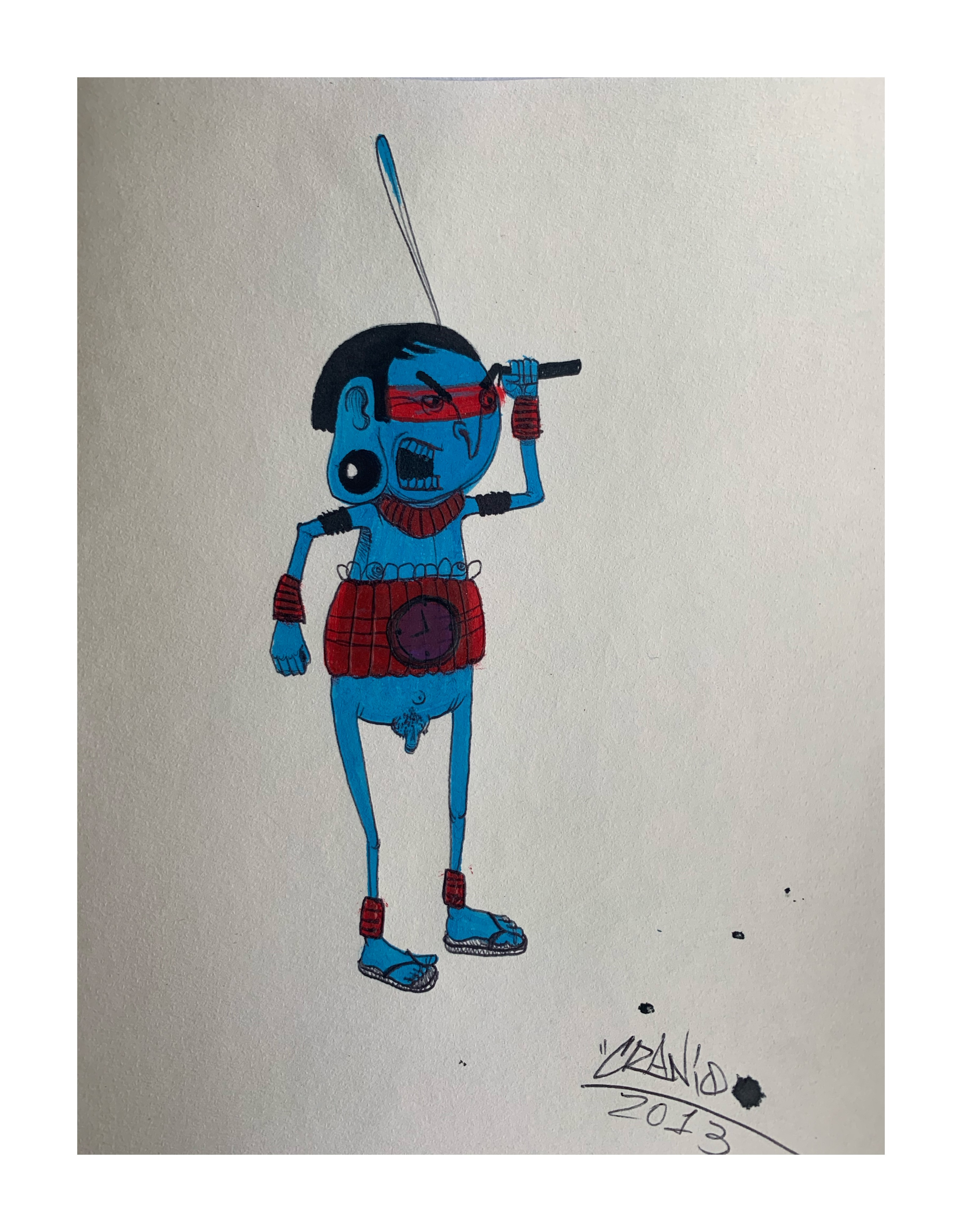 CRANIO , 'UNTITLED DOODLE' - 2013 , FROM THE PRIVATE COLLECTION OF PEZ - Image 2 of 3