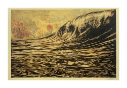 SHEPARD FAIREY 'DARK WAVE' - 2020