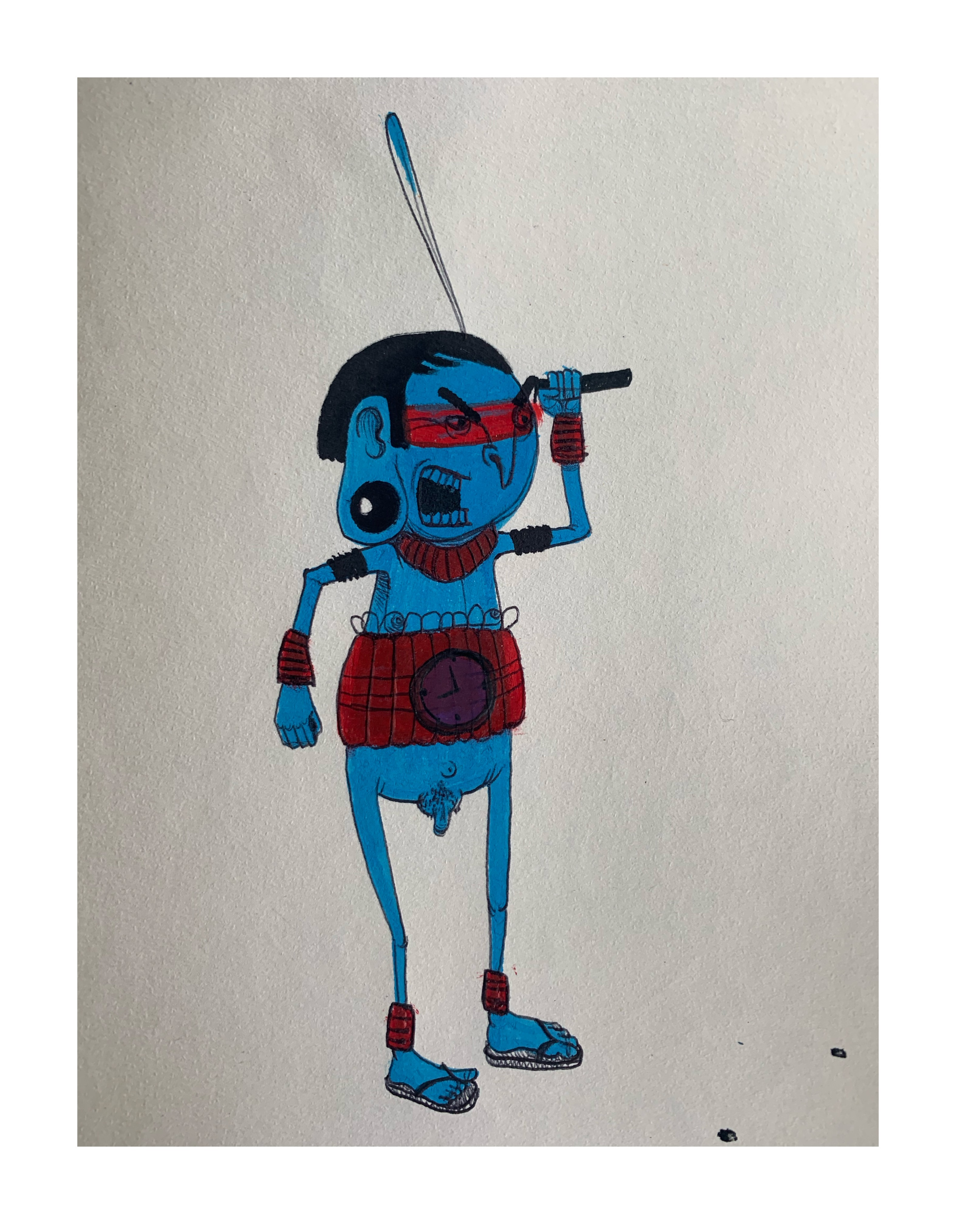 CRANIO , 'UNTITLED DOODLE' - 2013 , FROM THE PRIVATE COLLECTION OF PEZ - Image 3 of 3