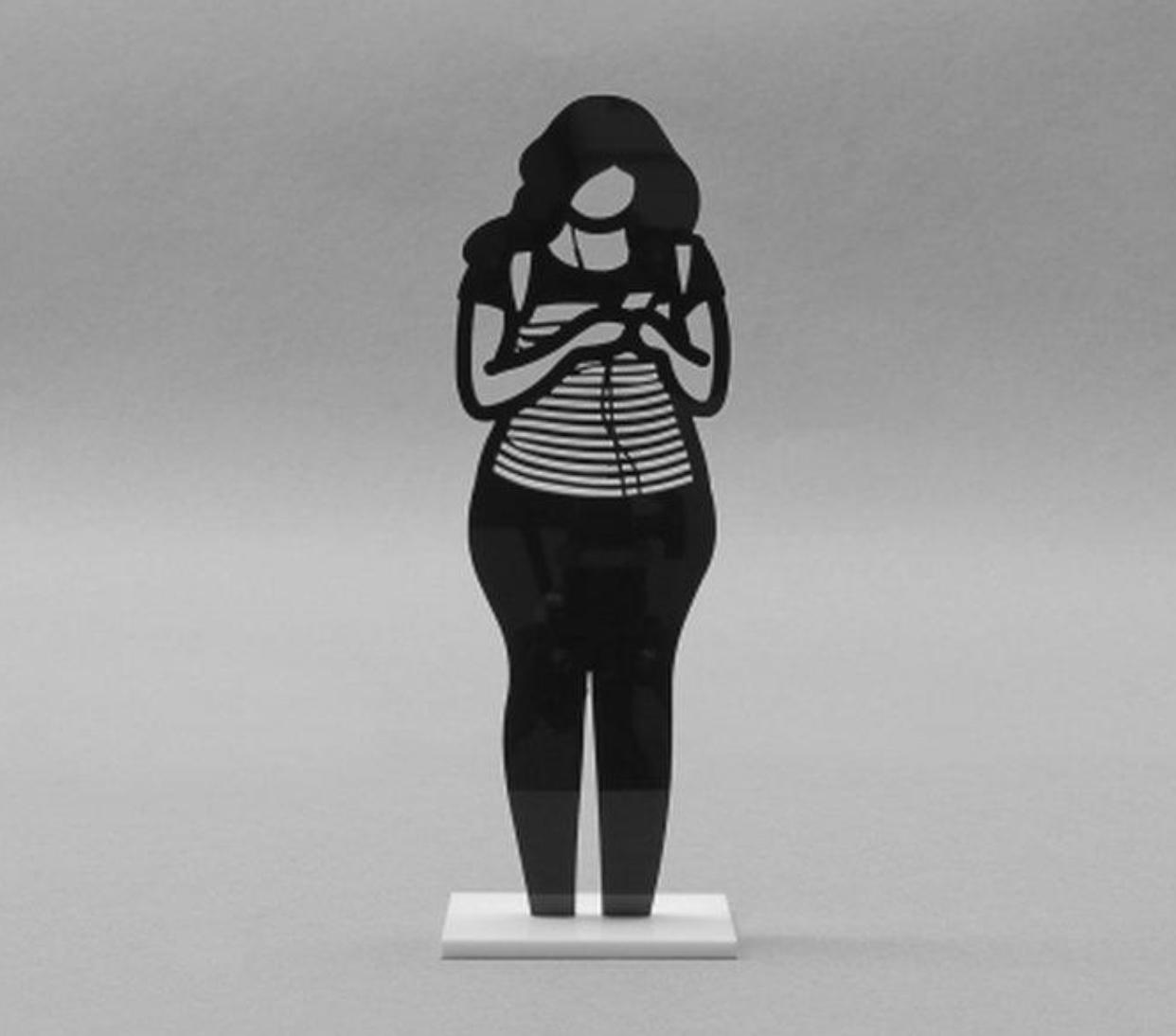 JULIAN OPIE 'BACK PACK ACRYLIC ART SCULPTURE' - 2020