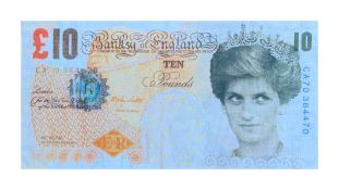 BANKSY- 'DI-FACED TENNER'- 2004