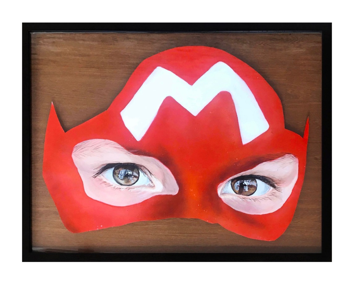 CHICADANIA 'MARIO BRO'S MASK'- 2020 ,FROM THE PRIVATE COLLECTION OF PEZ