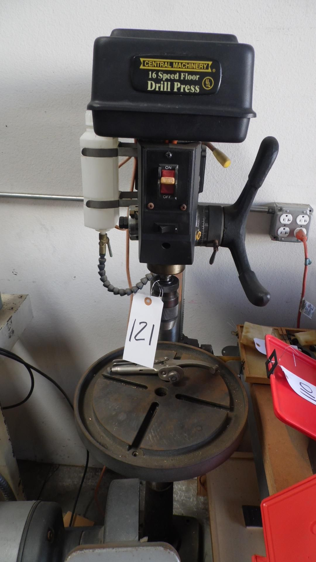 Lot 121 - CENTRAL MACHINERY 16 SPEED DRILL PRESS