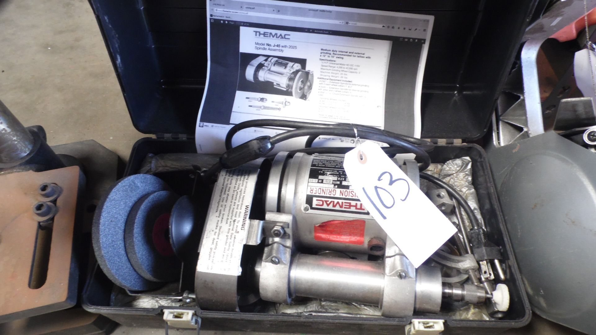 Lot 103 - THEMAC PRECISION GRINDER