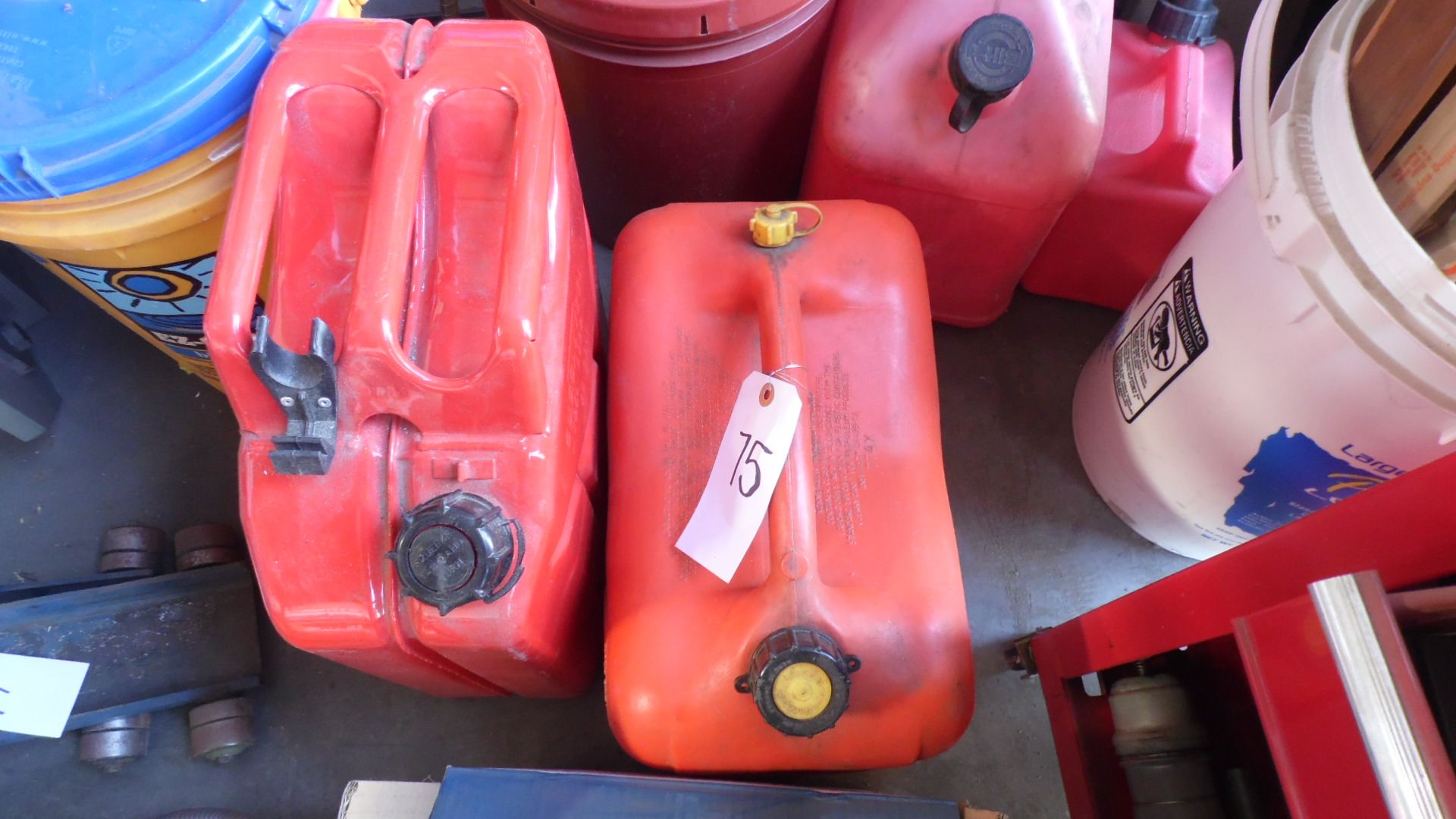 Lot 75 - ASSORTED GAS CANS