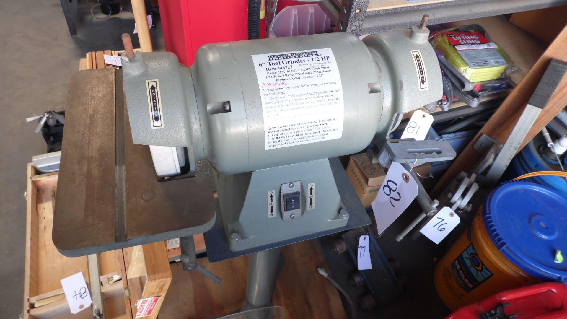 Lot 82 - CENTRAL MACHINERY TOOL GRINDER