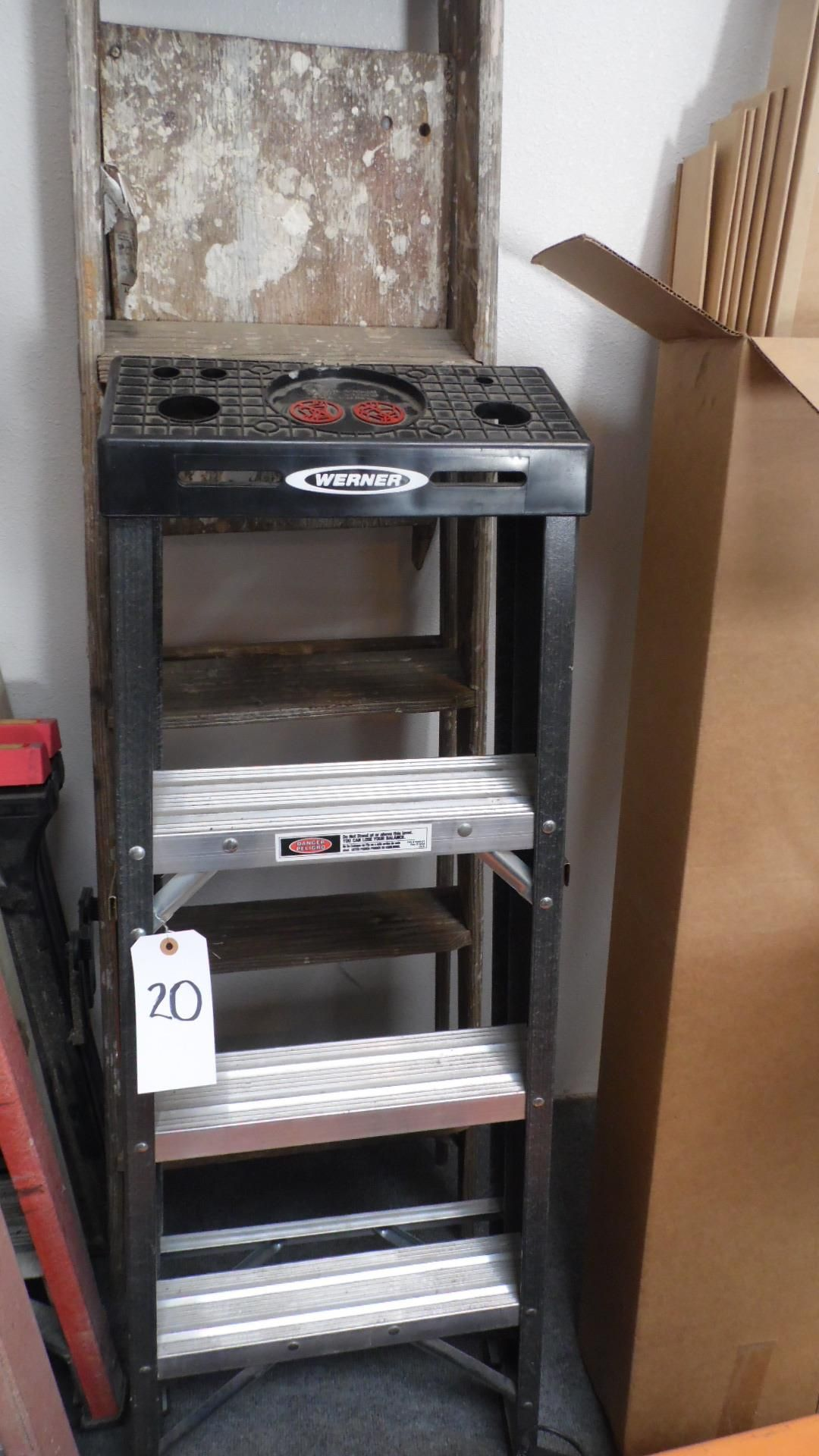 Lot 20 - ASSORTED LADDERS