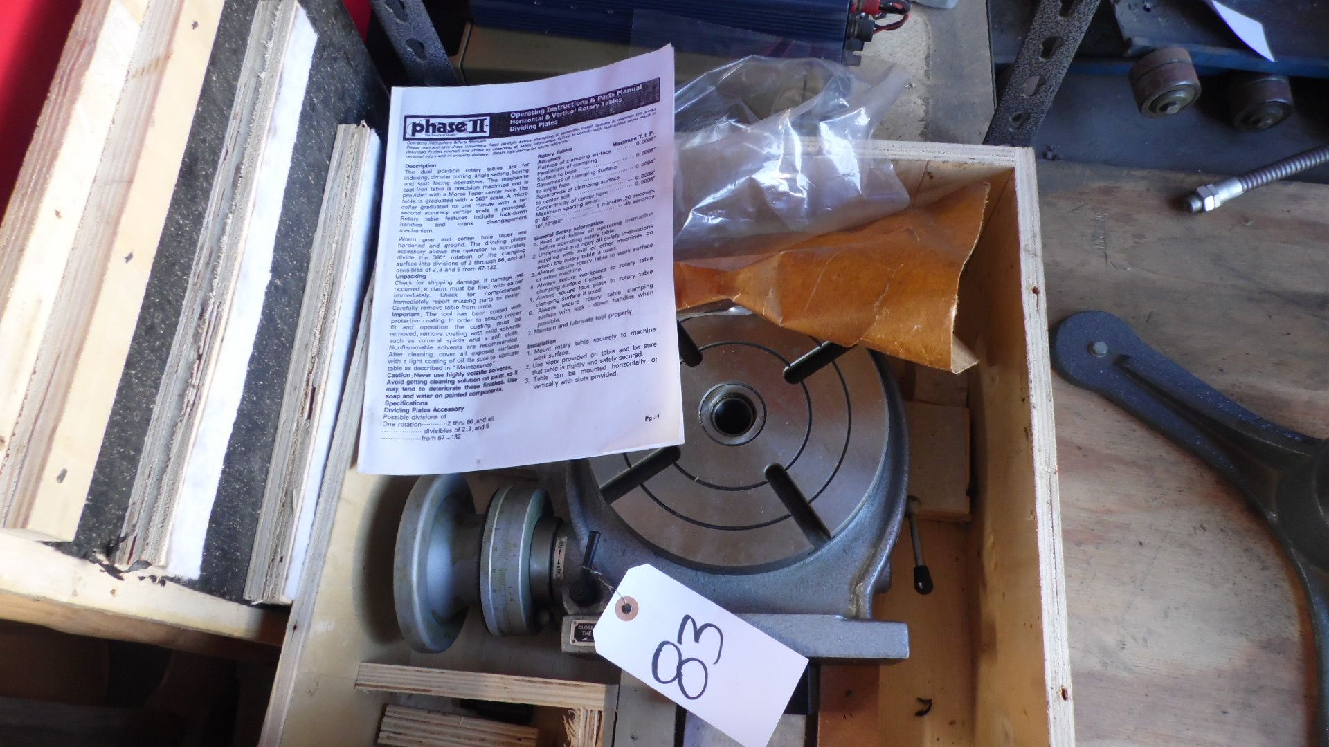 """Lot 83 - PHASE II 8"""" ROTARY TABLE"""