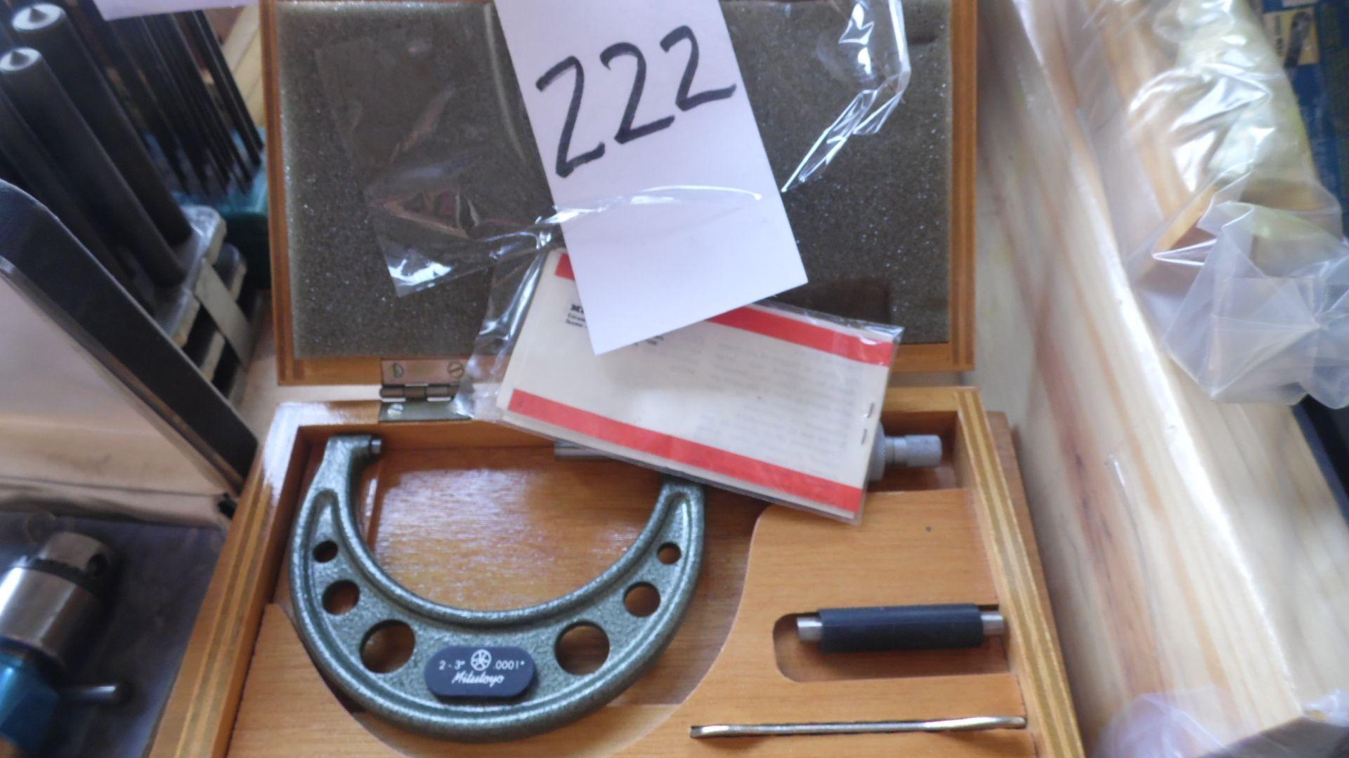 Lot 222 - MITUTOYO MICROMETER