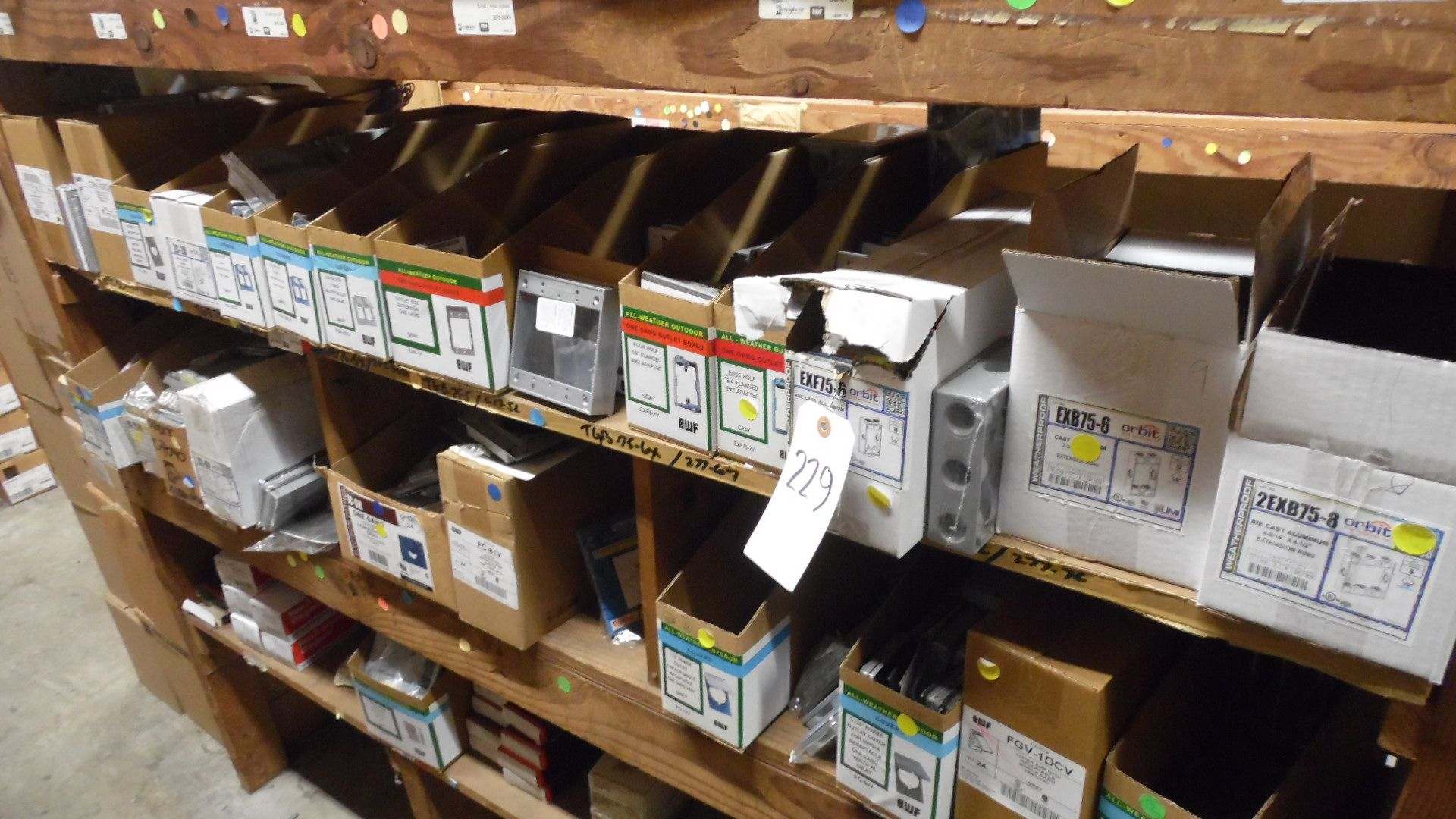 Lot 229 - GANG COVERS / OUTLET BOXES