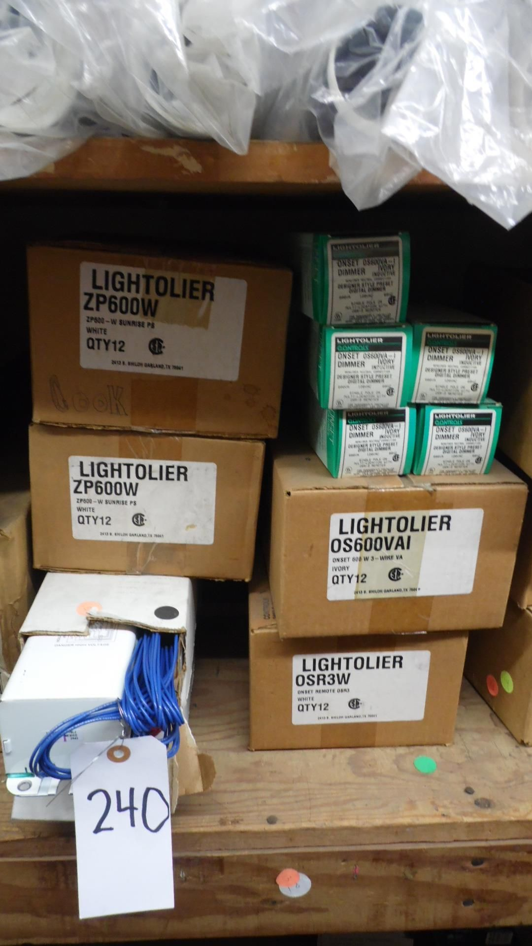 Lot 240 - ASSORTED BALLASTS / EASY BOXES