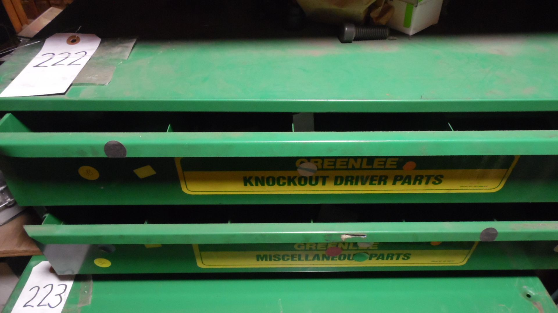Lot 222 - GREEN LEE KNOCKOUT DRIVER PARTS